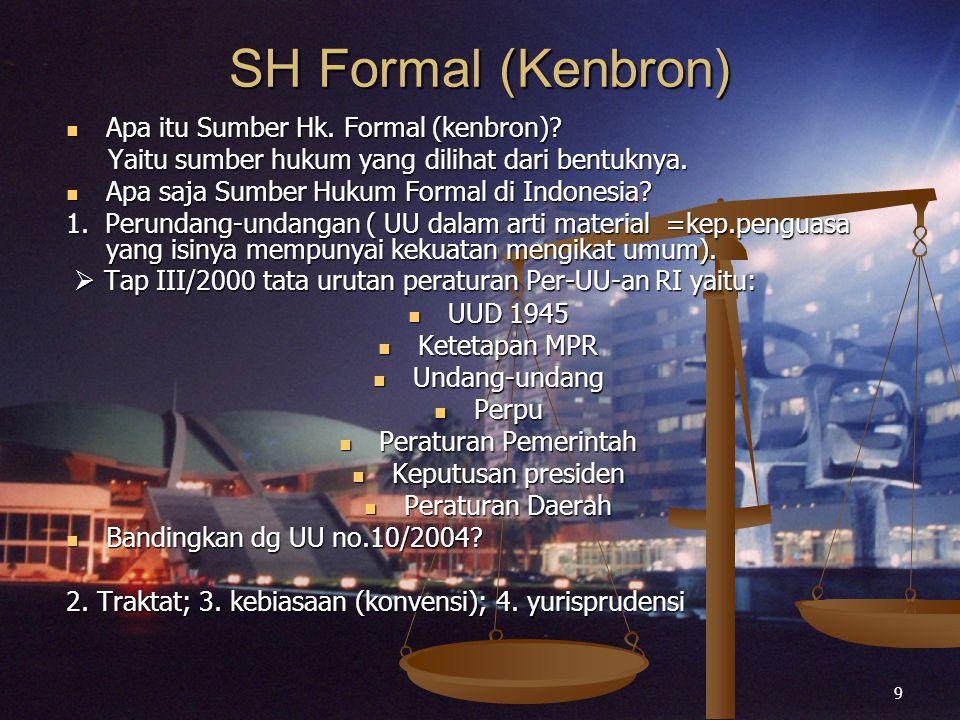 SH Formal (Kenbron) Apa itu Sumber Hk. Formal (kenbron)