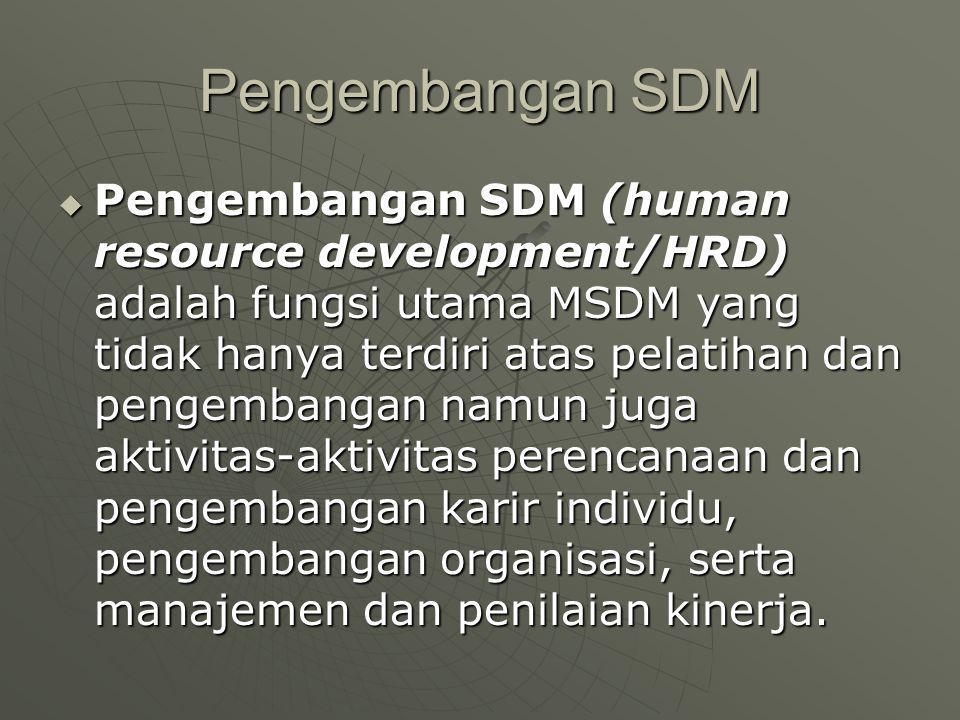 Pengembangan SDM