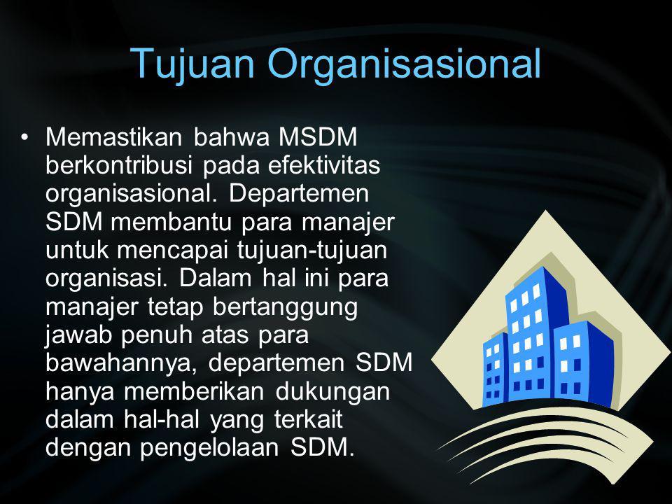 Tujuan Organisasional