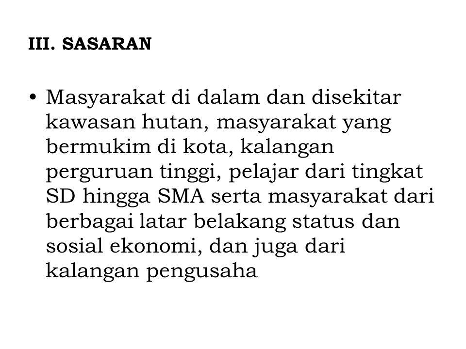 III. SASARAN
