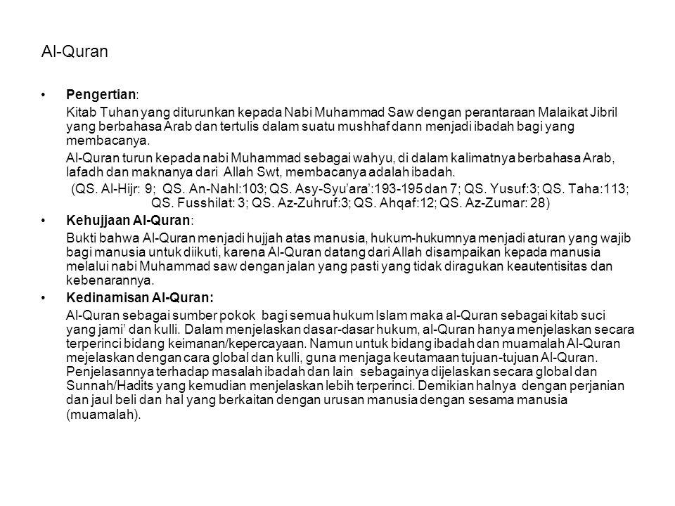 Al-Quran Pengertian: