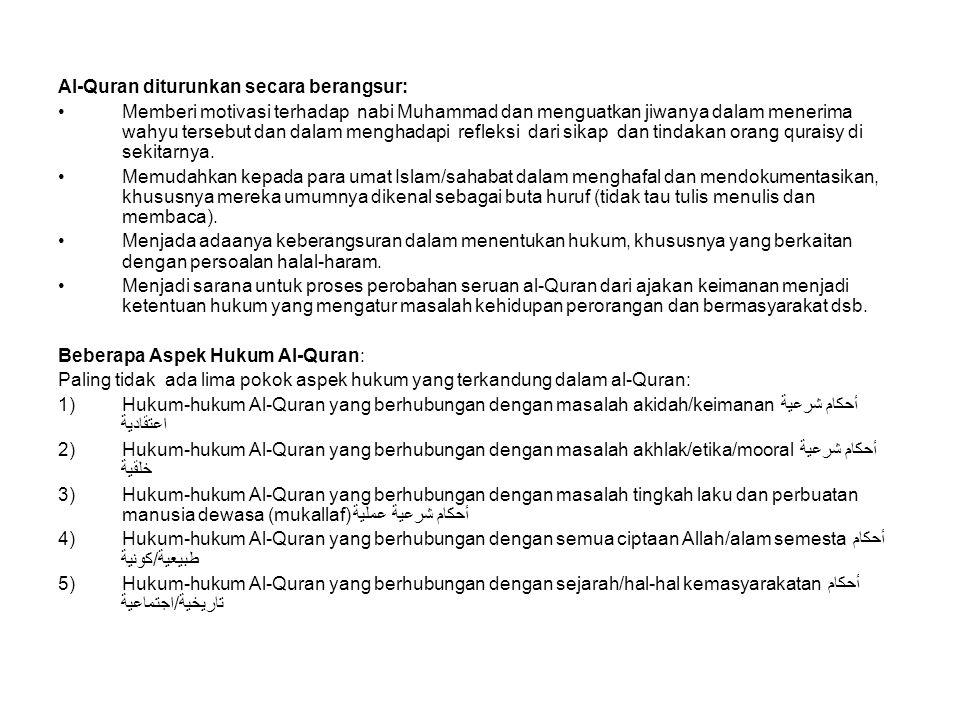 Al-Quran diturunkan secara berangsur: