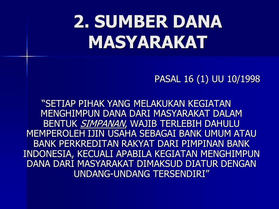 2. SUMBER DANA MASYARAKAT