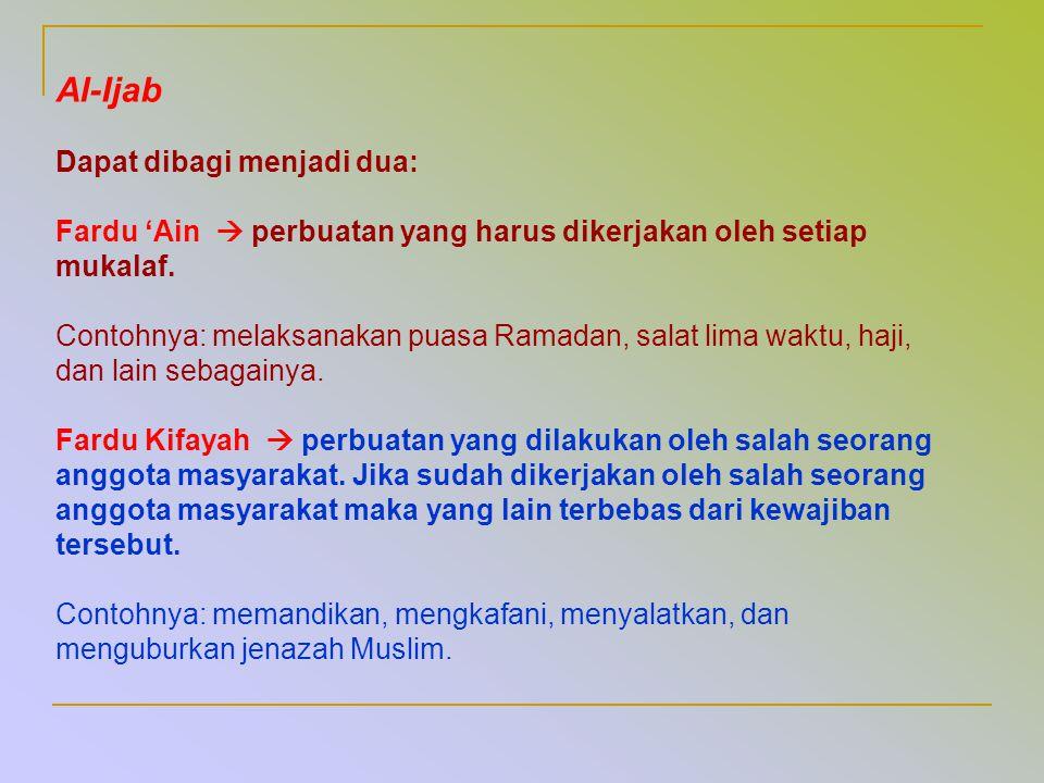 Al-Ijab Dapat dibagi menjadi dua: