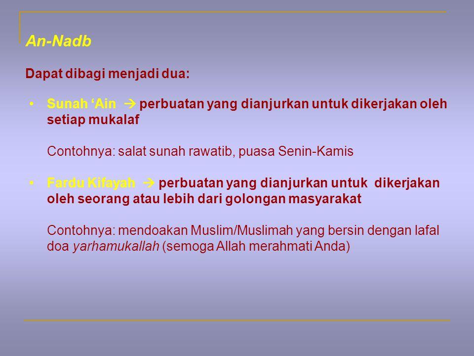 An-Nadb Dapat dibagi menjadi dua: