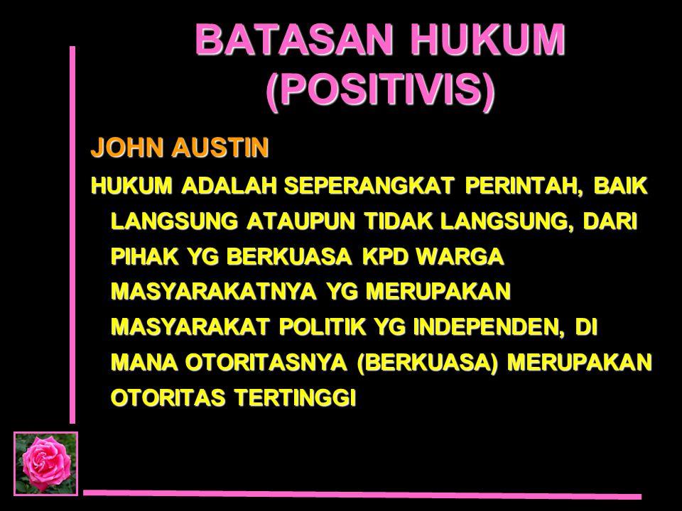 BATASAN HUKUM (POSITIVIS)