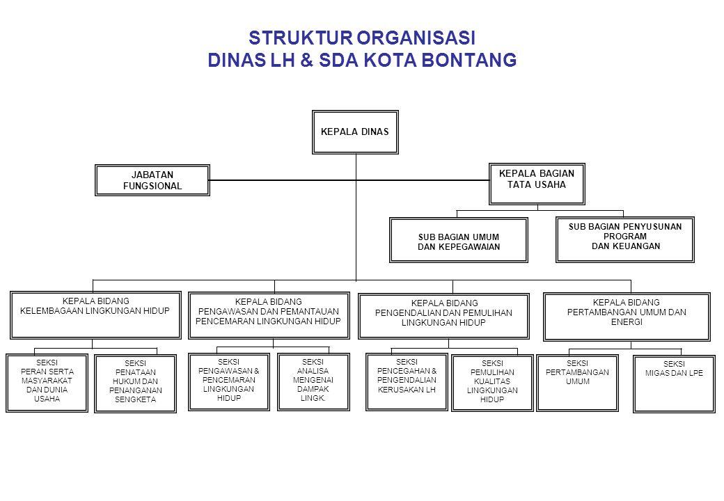 STRUKTUR ORGANISASI DINAS LH & SDA KOTA BONTANG