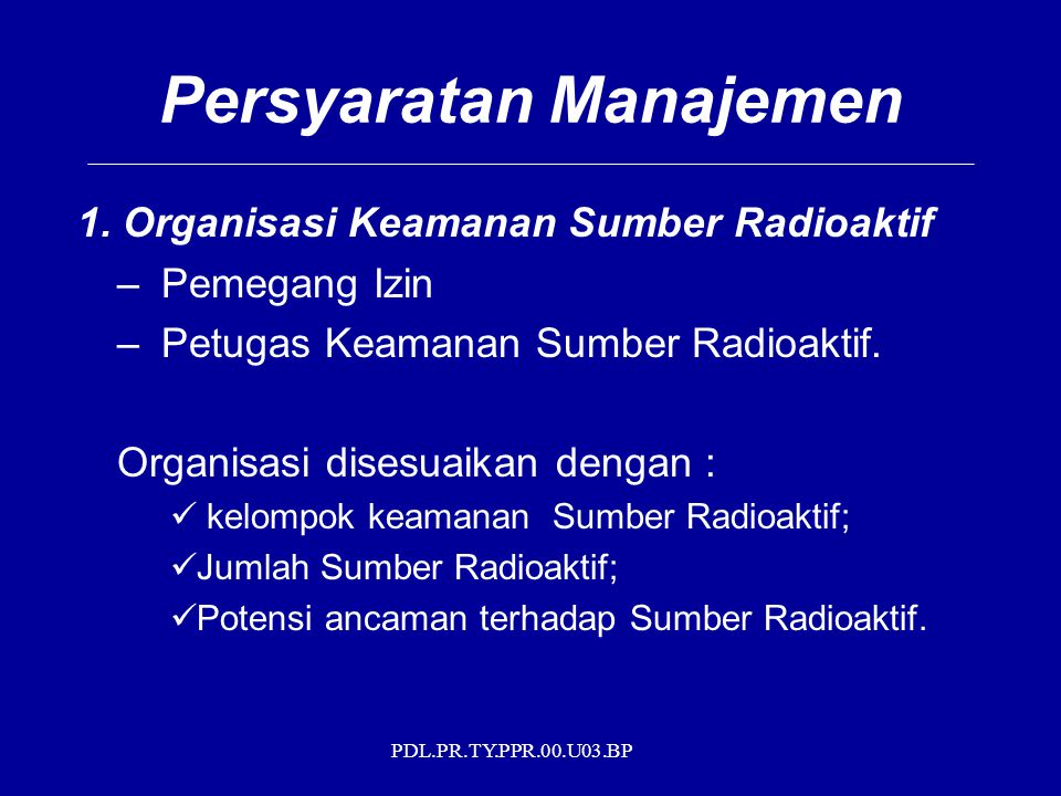 Persyaratan Manajemen