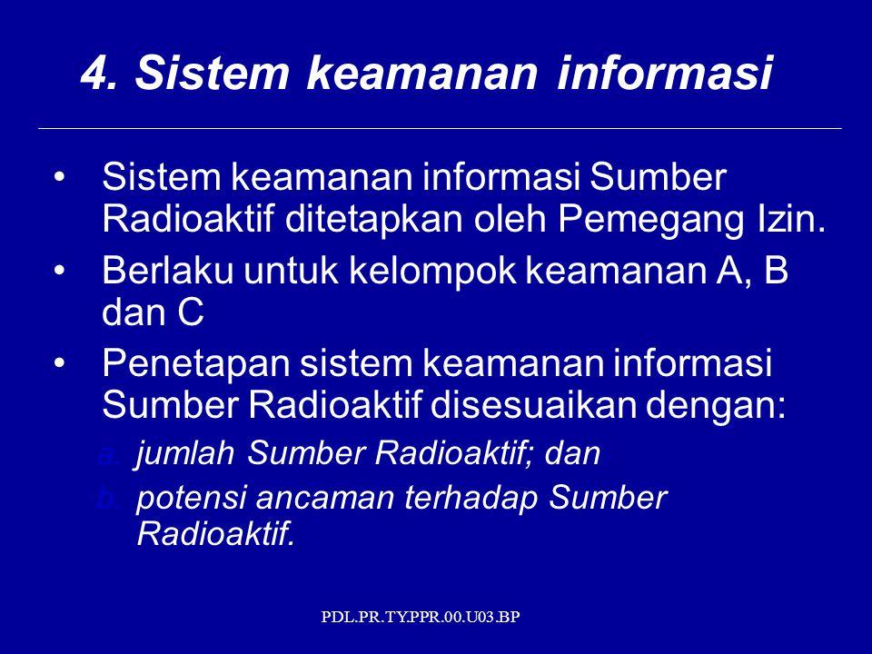 4. Sistem keamanan informasi