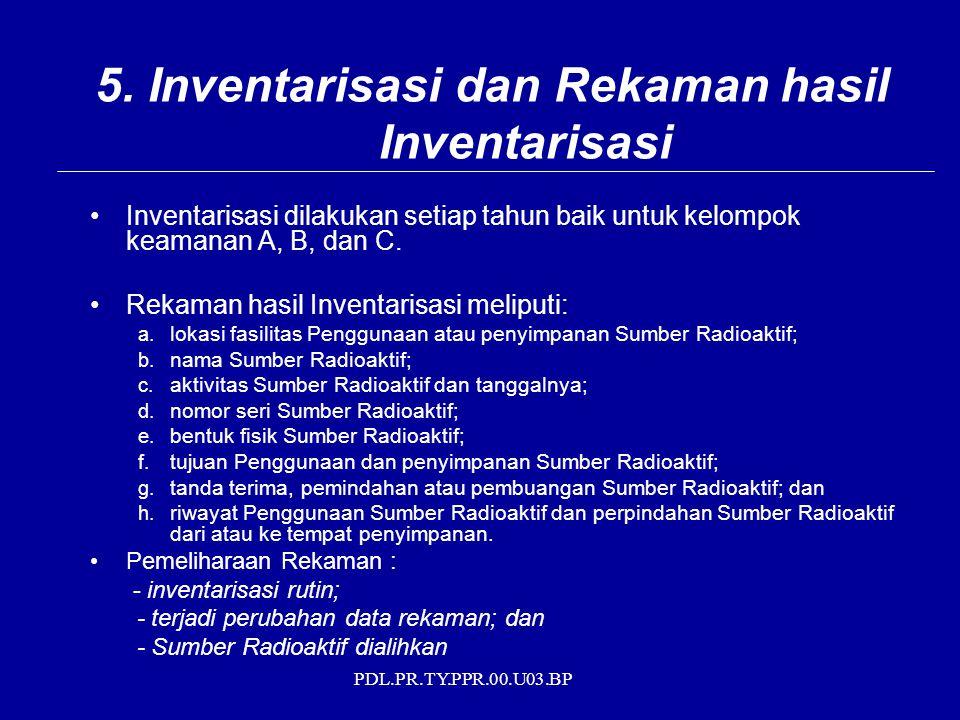 5. Inventarisasi dan Rekaman hasil Inventarisasi