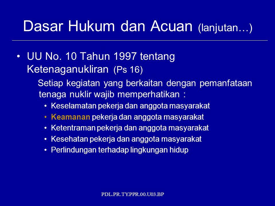 Dasar Hukum dan Acuan (lanjutan…)