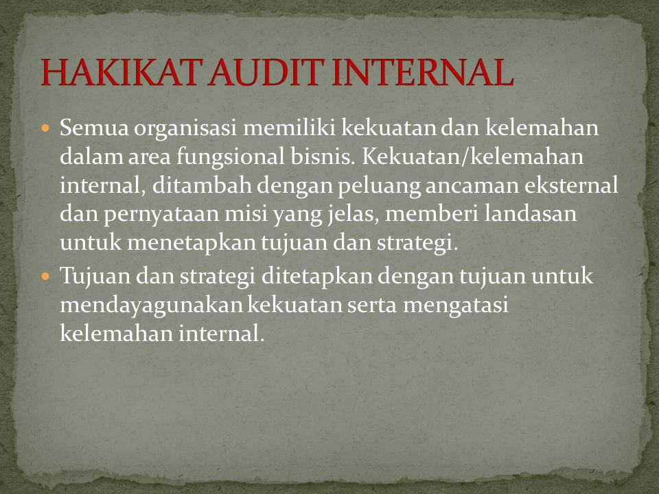 HAKIKAT AUDIT INTERNAL