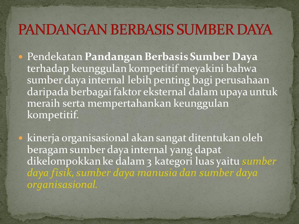PANDANGAN BERBASIS SUMBER DAYA