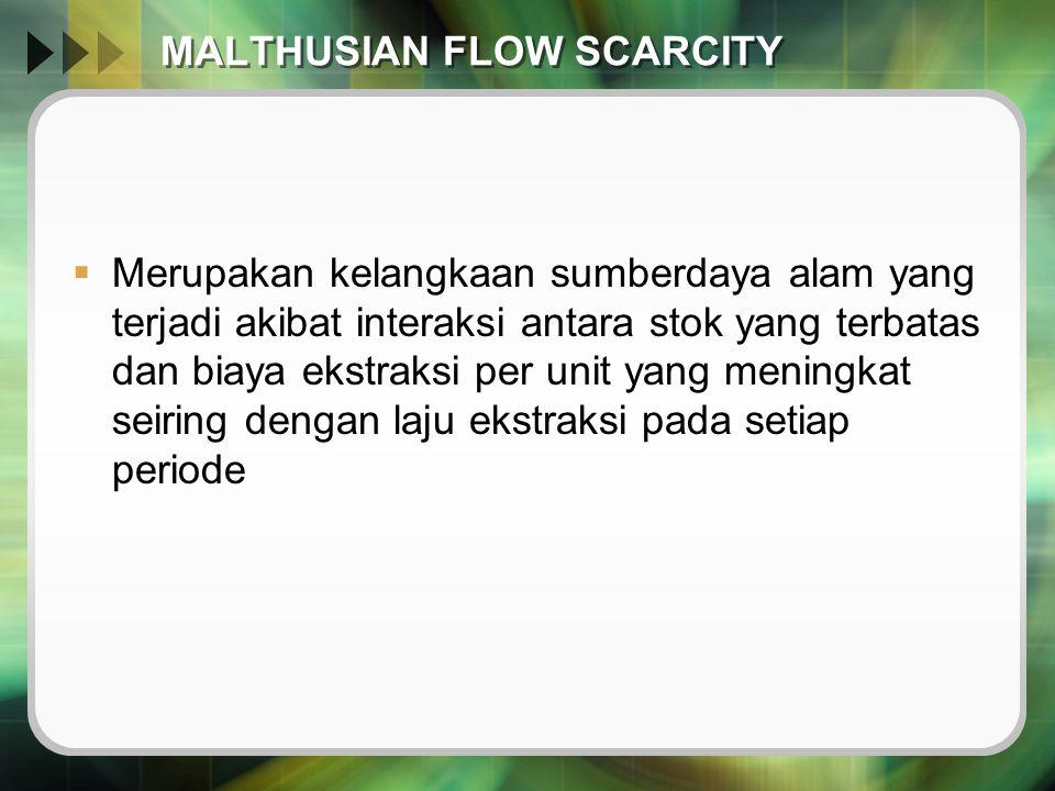 MALTHUSIAN FLOW SCARCITY