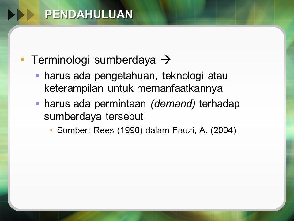 Terminologi sumberdaya 