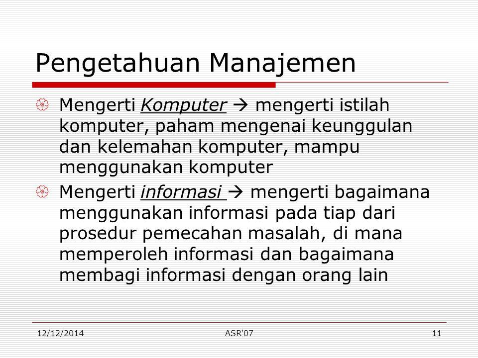 Pengetahuan Manajemen
