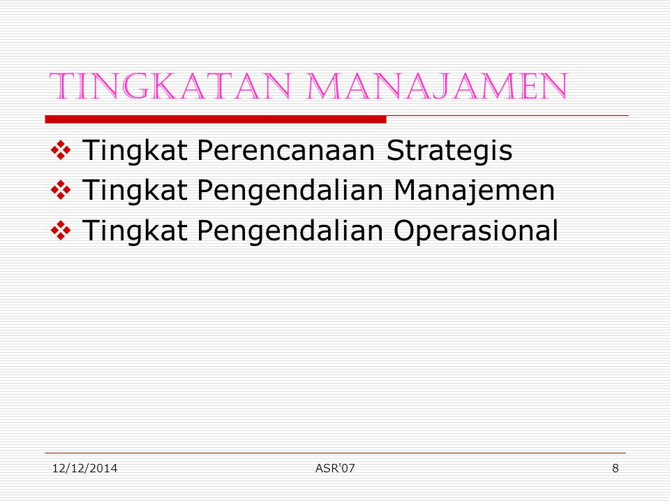 Kuliah Sistem Informasi Manajemen