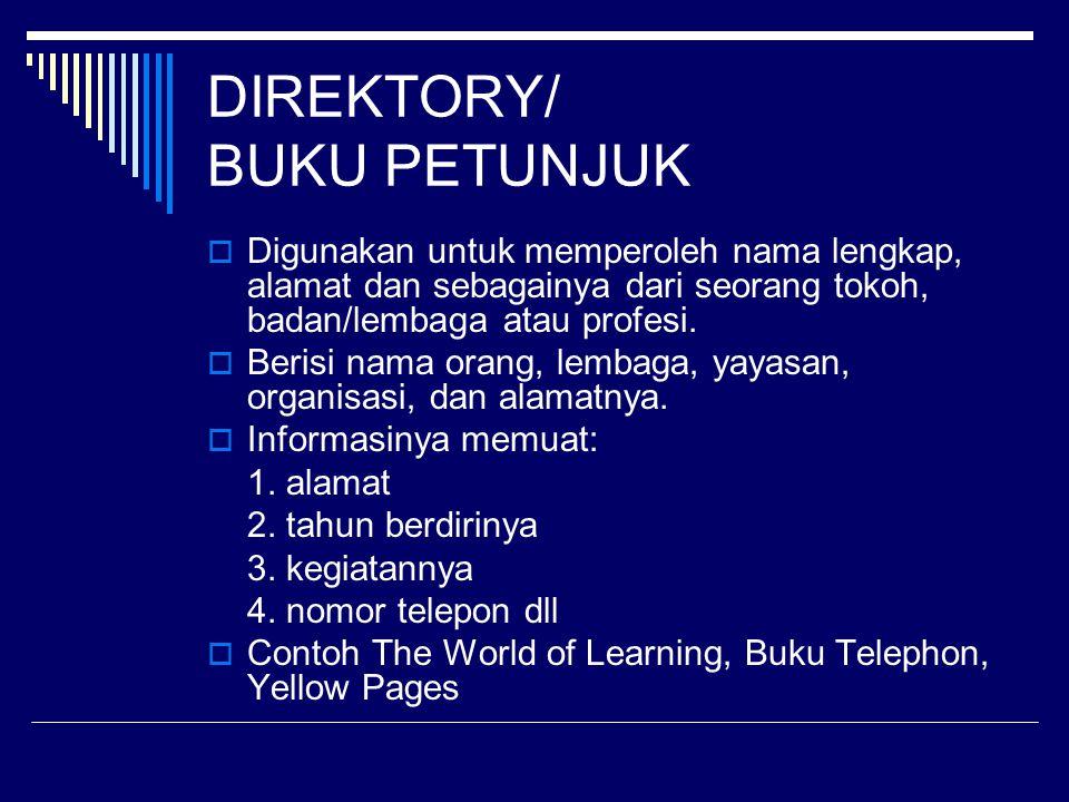DIREKTORY/ BUKU PETUNJUK