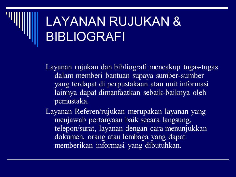 LAYANAN RUJUKAN & BIBLIOGRAFI