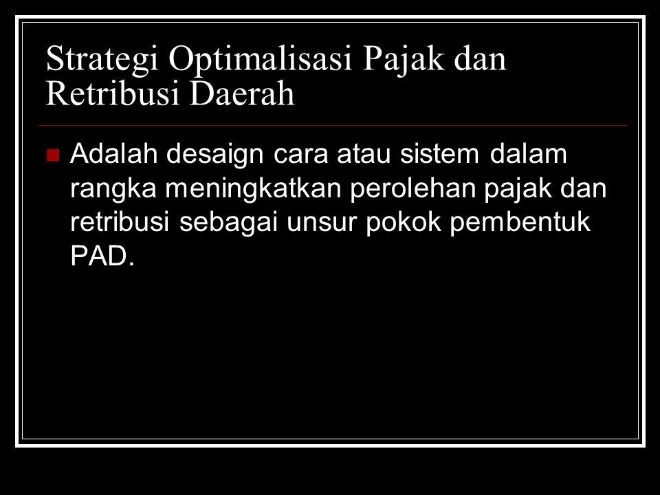Strategi Optimalisasi Pajak dan Retribusi Daerah