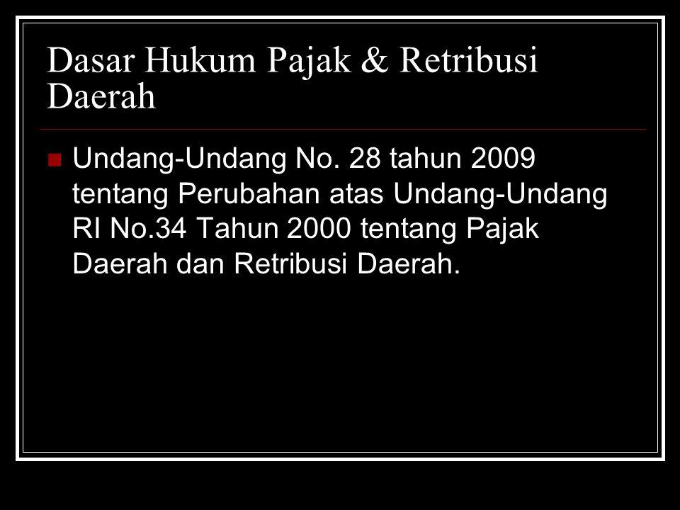 Dasar Hukum Pajak & Retribusi Daerah