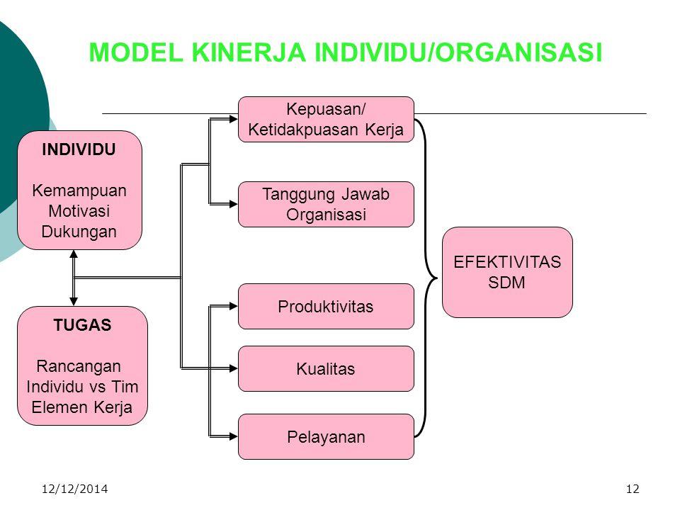 MODEL KINERJA INDIVIDU/ORGANISASI