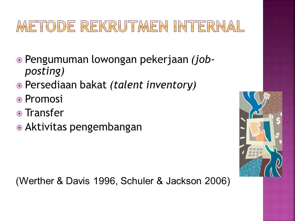 Metode Rekrutmen Internal