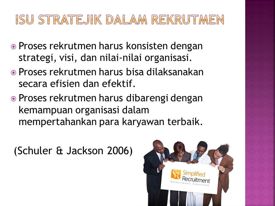 Isu Stratejik dalam Rekrutmen