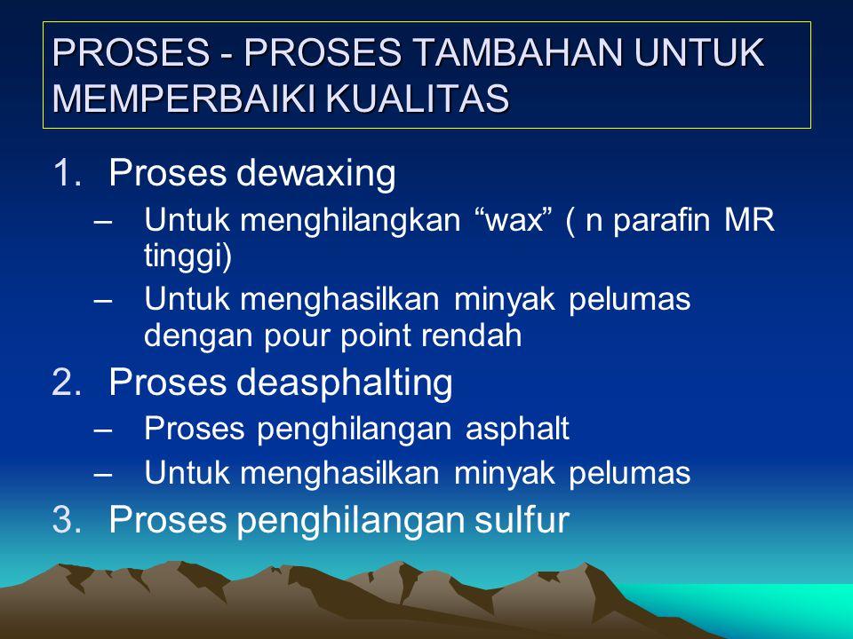 PROSES - PROSES TAMBAHAN UNTUK MEMPERBAIKI KUALITAS