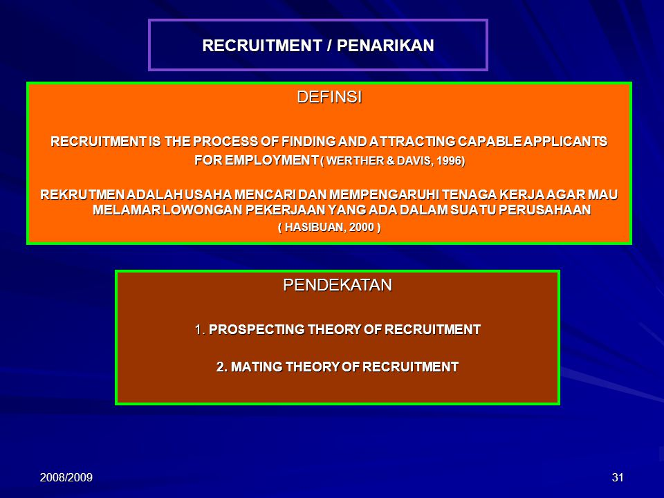RECRUITMENT / PENARIKAN
