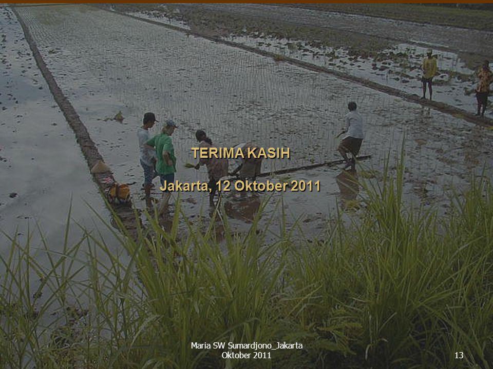 TERIMA KASIH Jakarta, 12 Oktober 2011