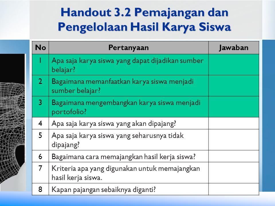 Handout 3.2 Pemajangan dan Pengelolaan Hasil Karya Siswa