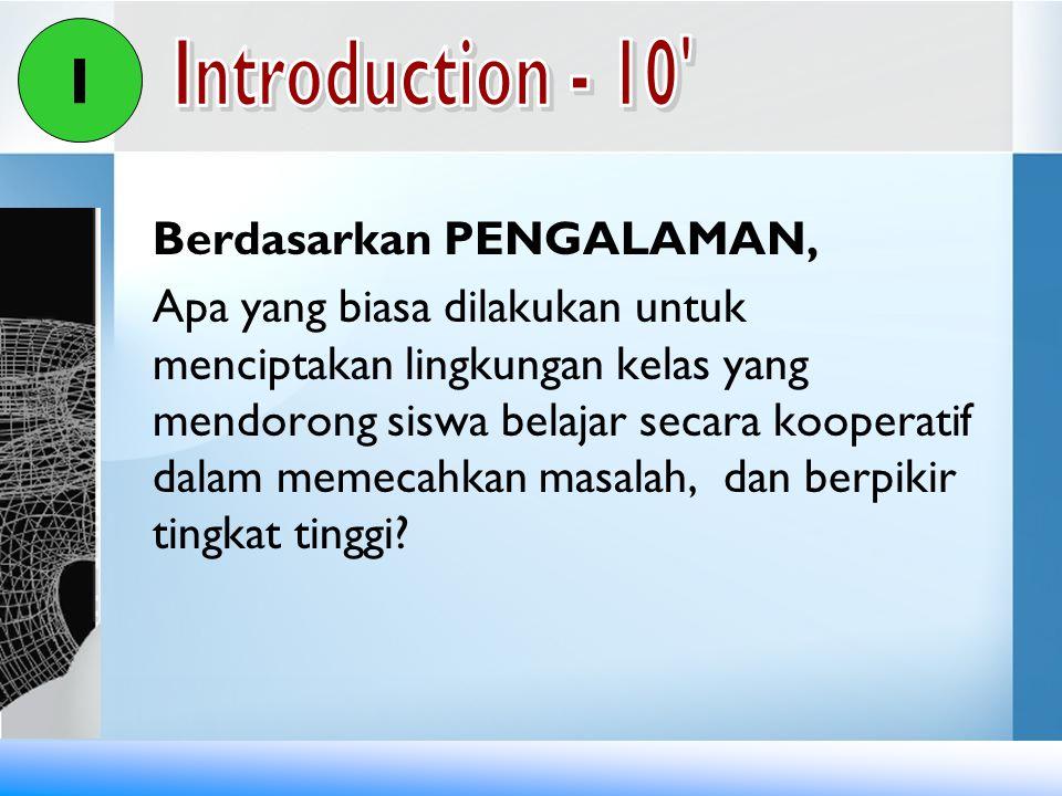 I Introduction - 10 Berdasarkan PENGALAMAN,
