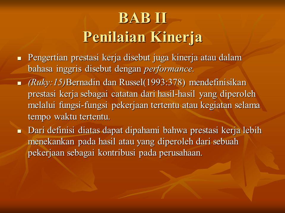 BAB II Penilaian Kinerja