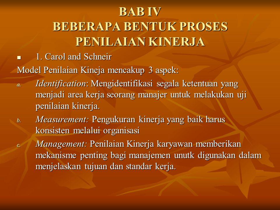 BAB IV BEBERAPA BENTUK PROSES PENILAIAN KINERJA
