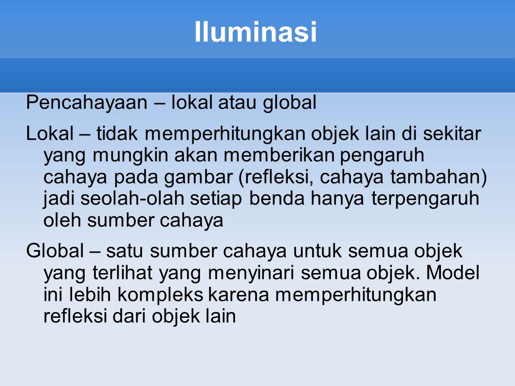 Iluminasi Pencahayaan – lokal atau global