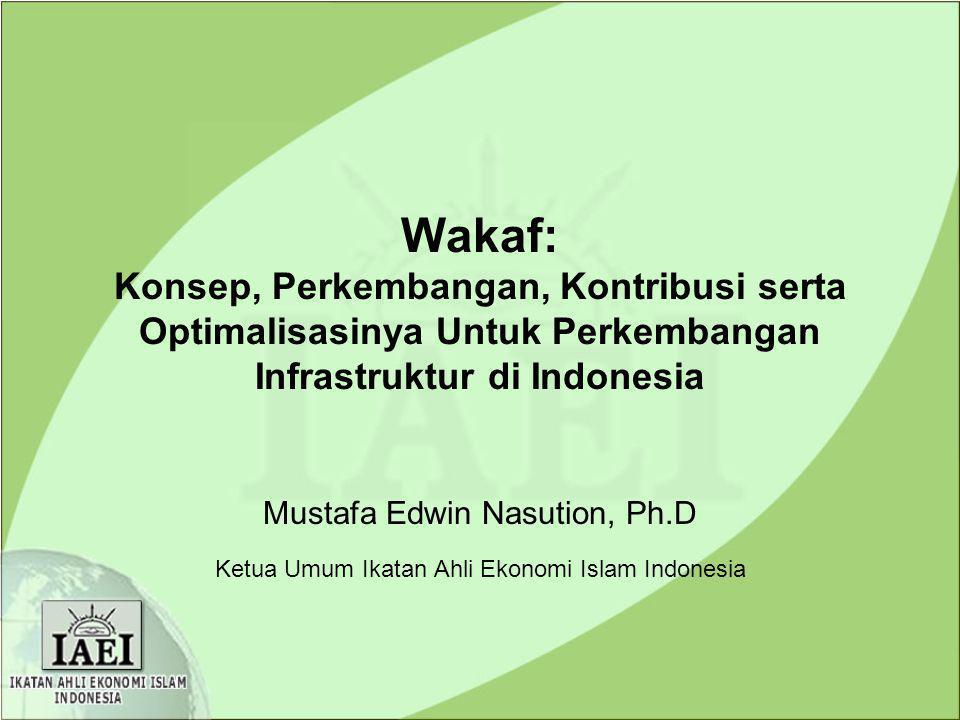 Wakaf: Konsep, Perkembangan, Kontribusi serta Optimalisasinya Untuk Perkembangan Infrastruktur di Indonesia