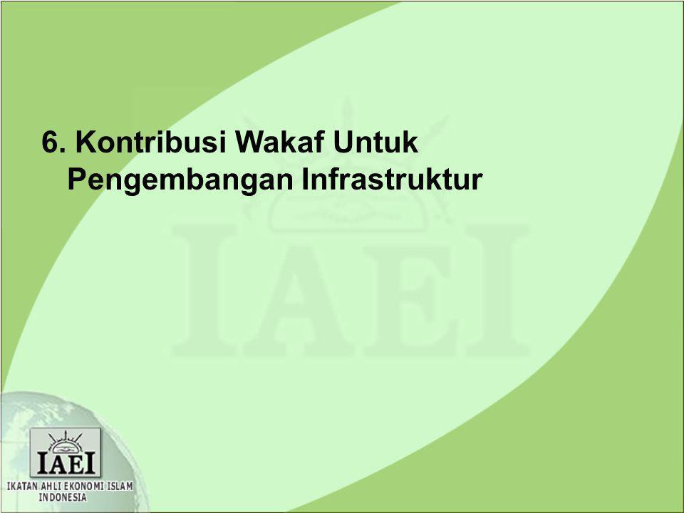 6. Kontribusi Wakaf Untuk Pengembangan Infrastruktur