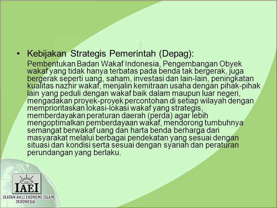 Kebijakan Strategis Pemerintah (Depag):