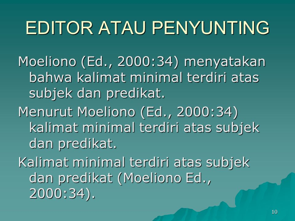 EDITOR ATAU PENYUNTING