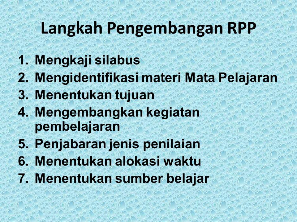 Langkah Pengembangan RPP