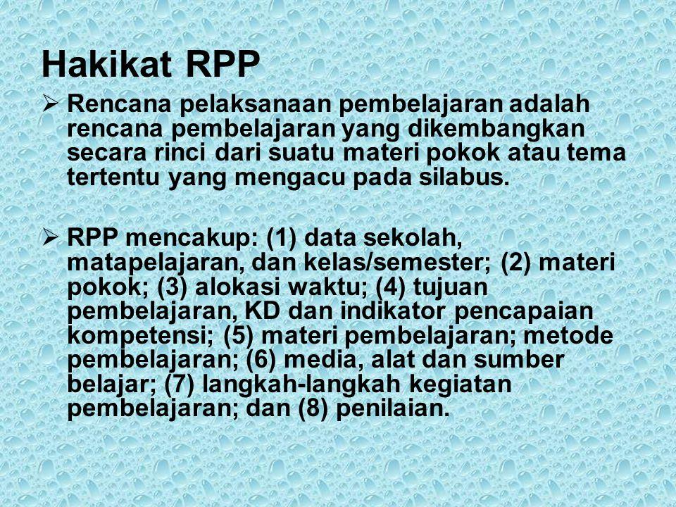 Hakikat RPP