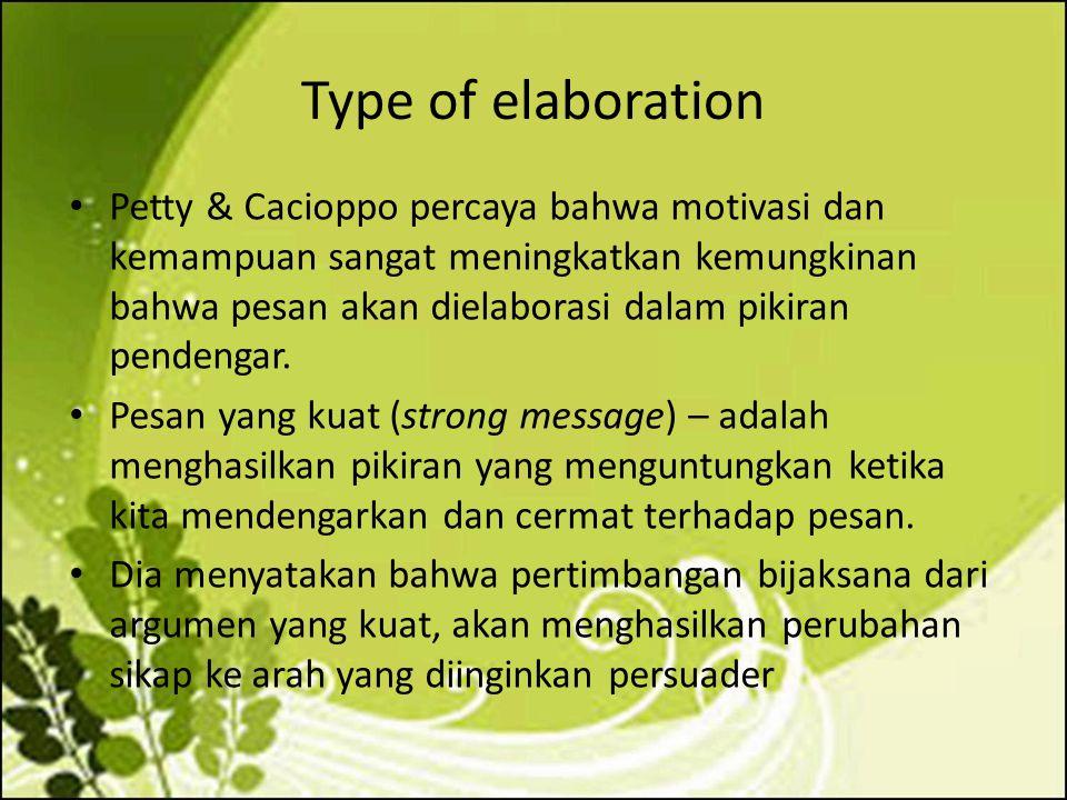 Type of elaboration
