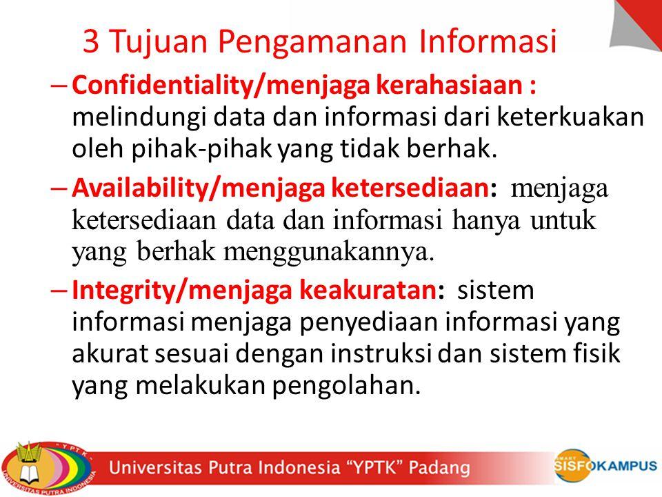 3 Tujuan Pengamanan Informasi