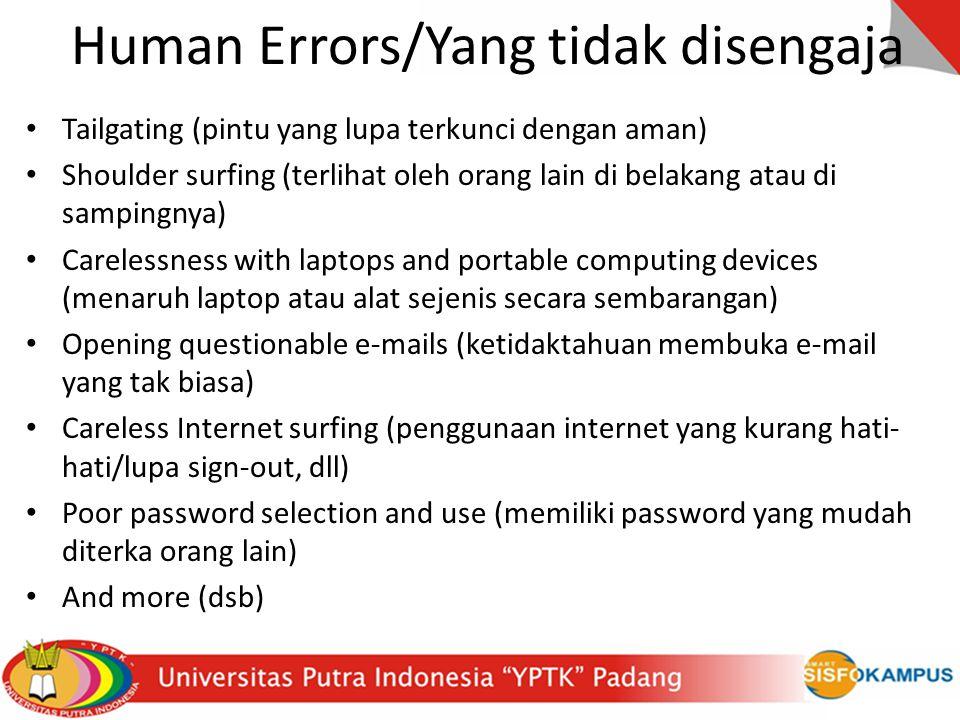 Human Errors/Yang tidak disengaja