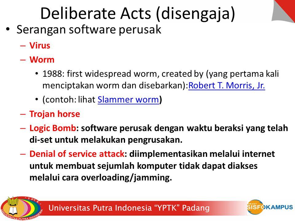 Deliberate Acts (disengaja)