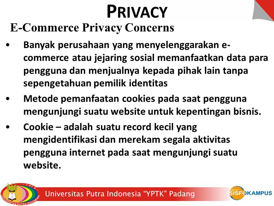 PRIVACY E-Commerce Privacy Concerns