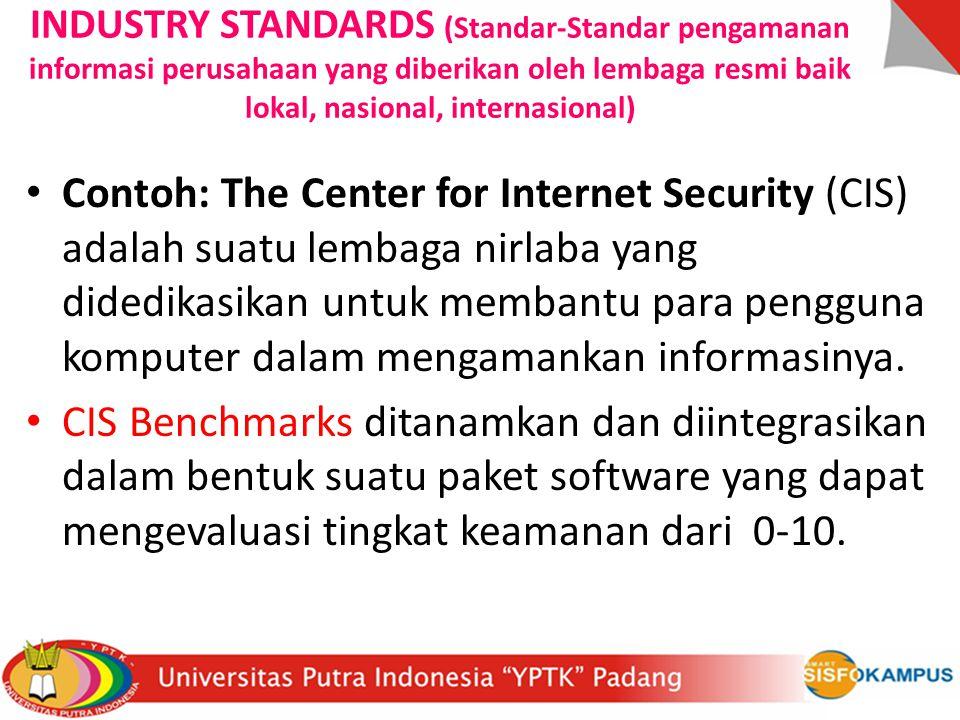 INDUSTRY STANDARDS (Standar-Standar pengamanan informasi perusahaan yang diberikan oleh lembaga resmi baik lokal, nasional, internasional)