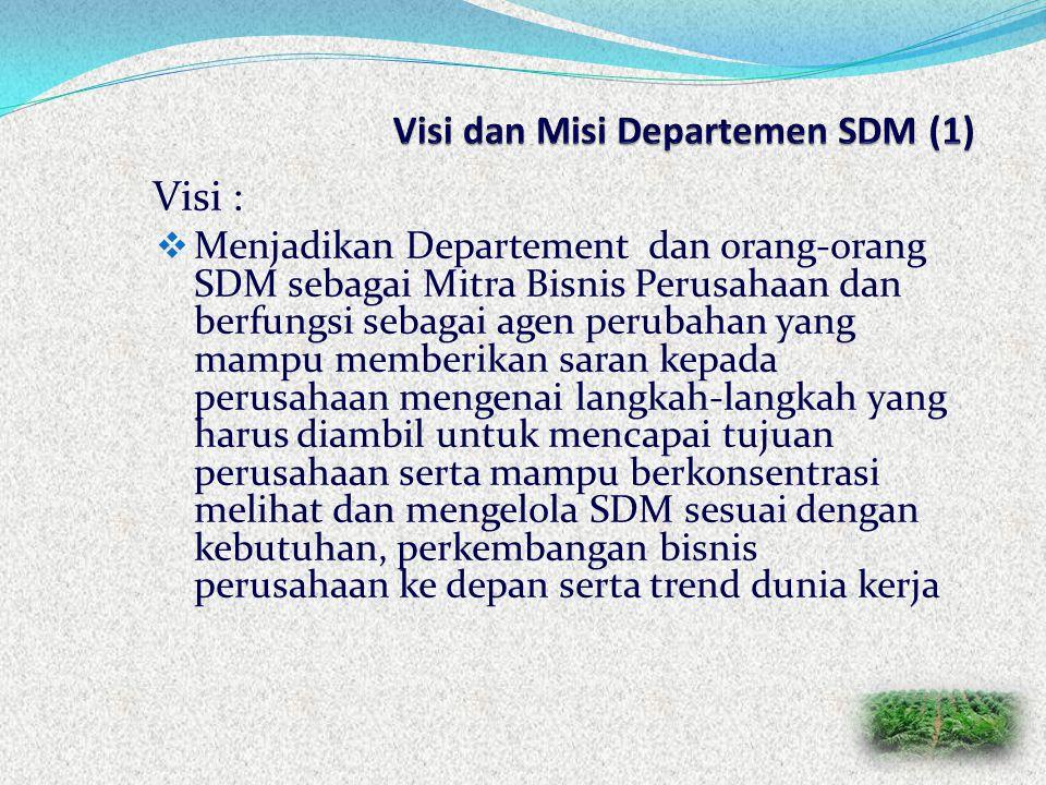 Visi dan Misi Departemen SDM (1)