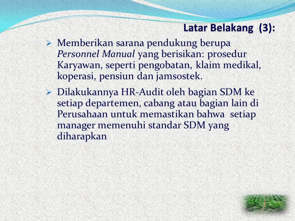 Latar Belakang (3):